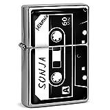 PhotoFancy® - Sturmfeuerzeug Set mit Namen Sonja - Feuerzeug mit Design Kassette - Benzinfeuerzeug, Sturm-Feuerzeug