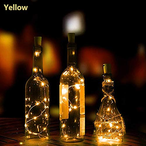 1 Licht Draht (TianranRT 1M 10LED Solar Kork Wein Flasche Stopper Kupfer Draht Schnur Lichter Fee Lampen (Beige))