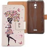 Lankashi PU Flip Leder Tasche Hülle Case Cover Schutz Handy Etui Skin Für Alcatel One Touch Pixi 4 6