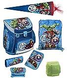 Familando Avengers Schulranzen-Set 7tlg .Scooli Campus Up mit Federmappe Schultüte 85cm und Regenschutz