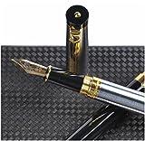Luxus Füllfederhalter mit Geschenketui von Drydren [Silber] | Füllfederhalter-Set für Führungskräfte | Klassischer Füllfederhalter | Business-Geschenk | Kalligraphie |