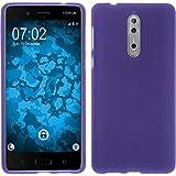 PhoneNatic Case für Nokia 8 Hülle Silikon lila matt Cover 8 Tasche Case