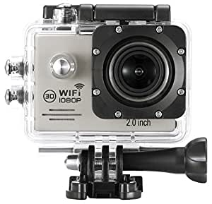 FunTC Action caméra HD,1080p, 720p, Grand angle 170, WIFI (argent)