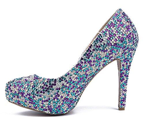 TDA - Scarpe con plateau donna Multicoloured