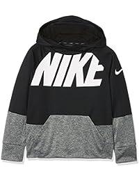 Nike B Nk Thrma Hoodie Po GFX Sudadera, Niños, Negro (Black/Carbon