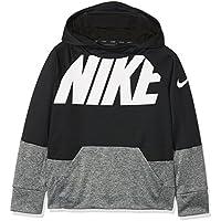 Nike B Nk Thrma Hoodie Po GFX Sudadera, Niños, Negro (Black/Carbon Heather), XL