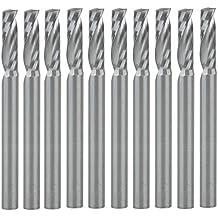 UE _ Hozly spigolo 3.175x 12mm singola scanalatura carburo incisione CNC router Tools, confezione da 10