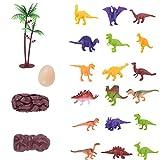 Mini Dinosaur Model Toys Set Jurassic Dinosaur Figure Model Toys Regali per bambini e per bambini Assorted Color One Set di 18Pcs