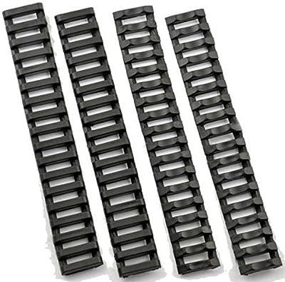 Escalera protectores para rieles para Airsoft ras Ris–negro