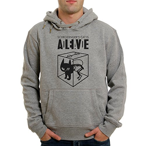 Sheldon Schroedingers Cat Is Alive Edition Large Unisex Hoodie