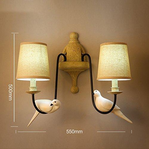 zwx-american-retro-minimalista-creativi-ferro-lino-two-birds-wall-hotel-wakeno-garden-courtyard-lamp