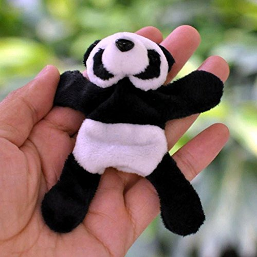 Hongxin Kühlschrank Aufkleber, 1Stück, 8/Lot Cute Lovely Weich Plüsch Panda Kühlschrankmagnet Kühlschrank Aufkleber Kinder Geburtstag Geschenk Weihnachten Gifts Souvenir Decor 9cm x 9cm 1 Pcs -