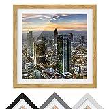 Bilderwelten Póster Enmarcado - MAINhattan - Color de Marco Madera de encina 70 x 70 cm