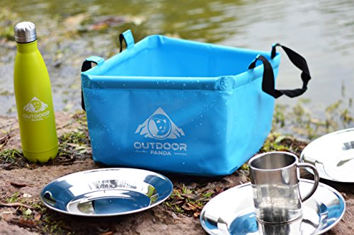 NEU Outdoor Faltschüssel 15 Liter Waschschüssel blau