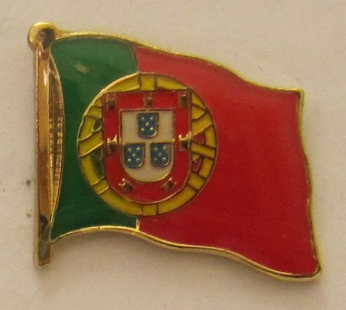 Pin Anstecker Flagge Fahne Portugal Nationalflagge Flaggenpin Badge Button Flaggen Clip Anstecknadel (Flagge Buttons)