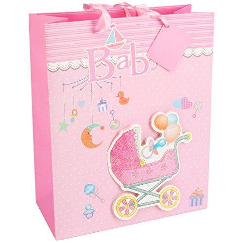 Levivo ASS200200000014 - Bolsa de regalo 3D para bebé, diseño 1, rosa
