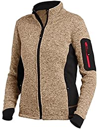 FHB Strickfleece Jacke atmungsaktiv, Farbe:khaki;Größe:L