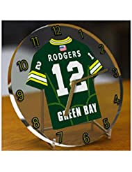 AARON RODGERS GREEN BAY PACKERS NFL HORLOGE DE TABLE FOOTBALL AMERICAIN - EDITION LIMITEE LES LEGENDES DU SPORT