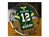 NFL National Football League Schreibtisch-Uhr – Design: Trikot der NFC North American Football League, Uhr GREEN BAY PACKERS