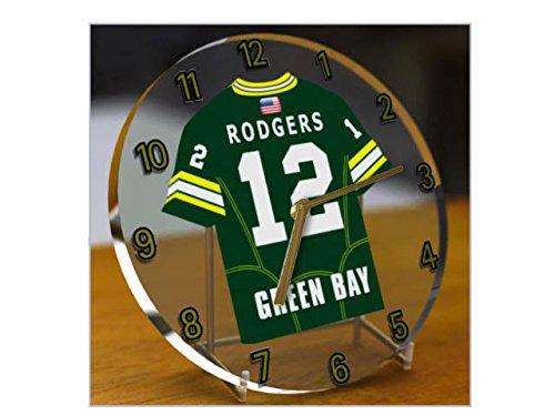 NFL National Football League Schreibtisch-Uhr–Design: Trikot der NFC North American Football League, Uhr GREEN BAY PACKERS