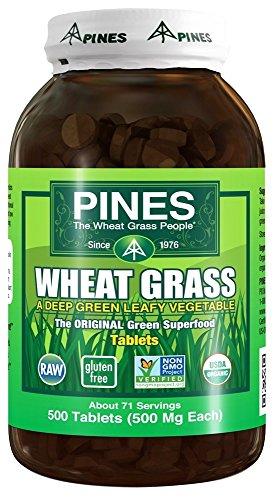 Pines - schede di erba di grano 500 mg. - 500 compresse