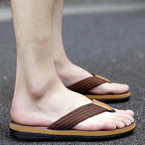 Brown, Summer, Tongs, Les Sandales, Pantoufles Chaussures De Plage, Les Hommes Brown