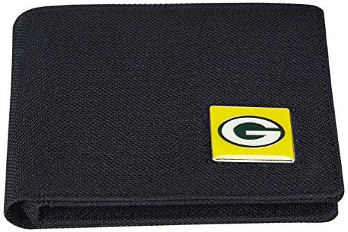aminco NFL Herren Nylon RFID Safe Travel Wallet, Herren, schwarz, 4.25 x 3.25