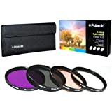 Polaroid 67mm HD Multi Coated Glass 4 Piece Filter Kit with Case