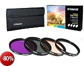 Set Di 4 Filtri Ottici Polaroid Da 77 mm (UV, CPL, FLD e WARMING)