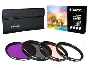 Polaroid 77mm HD Mehrfachbeschichteter / Multicoated Glass 4-Stück-Filterset - Inklusive UV , Zirkular POL , FDL , Warmfilter - und Filtertasche