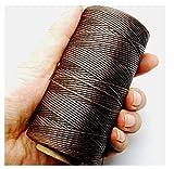 Romote Hilo en la Costura e 150D 1mm Bolso marrón Oscuro 125g Cuero de Cuero Encerado
