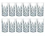 Nachtmann - Noblesse - Longdrinkglas, Gin Tonic, Becher - 12er Set - Wasserglas, Saftglas, Kristallglas