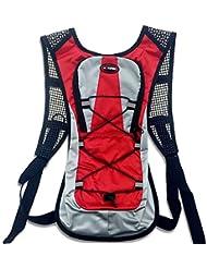 Deportes hidratación backpack-hotspeed bicicleta agua poliéster bolsa de vejiga para escalada senderismo ciclismo y cualquier otros deportes (rojo)