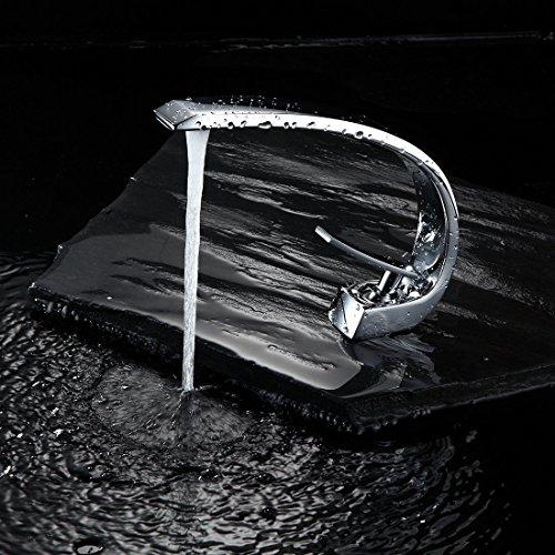 Timaco Wasserhahn Bad Chrom Waschbecken Waschtisch Armatur Einhebelmischer Badarmatur Mischbatterie Waschbeckenarmatur Badzimmer