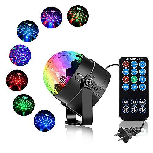 ENUOLI Disco-Kugel Strobe Licht-Partei-Disco Lights Karaoke-Maschine 3W DJ Licht LED-beweglich 7Colors RGB-Ton aktivierte B¨¹hnenbeleuchtung f¨¹r Haus Zimmer Tanz-Geburtstags-Bar Weihnachten Hochzeit