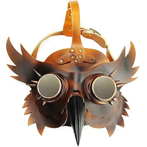 Urheberrecht Kostüm - GADS Horror Jason, Pestarzt Maske, Halloween Steampunk Pest Maske, Long Nose Cosplay Kostüm Requisiten, Erwachsene Und Kinder, Metall Leder