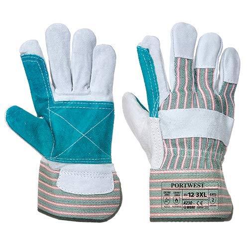 Portwest-Doppel Palm Rigger gardening-builders Handschuhe 12Paar Pack, X-Large, grau, 12 -
