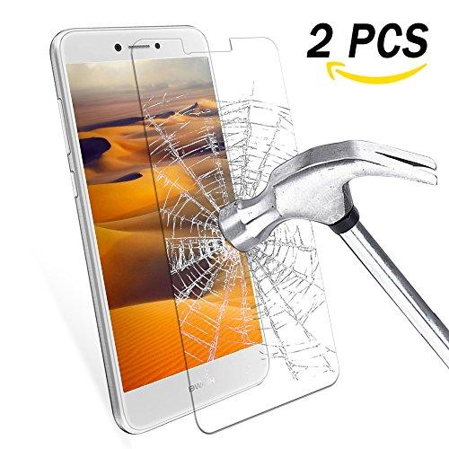 Pellicola Vetro Temperato Huawei P8 Lite 2017, Infreecs 2 Pack Pellicola Protettiva in Vetro Temperato Per Huawei P8 Lite, 99%HD, Vetro con Durezza 9H, Spessore di 0.33mm, Trasparente