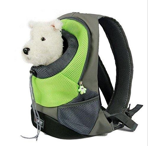 Komener Mochila de Transporte para Gatos o Perros Pequeños, Color Verde