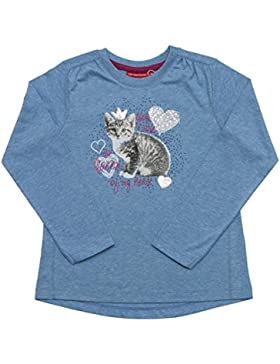 Salt & Pepper Longsleeve Cats & Dogs Katze, Camiseta de Manga Larga para Bebés