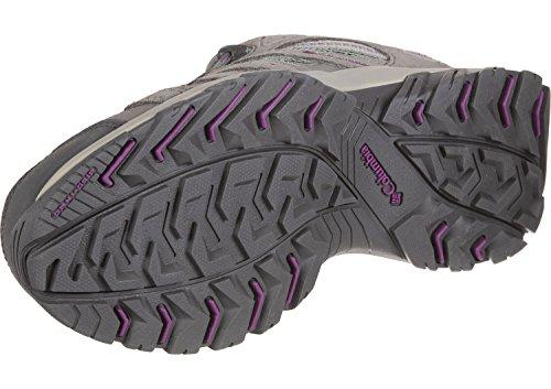 Columbia Canyon Point Waterproof, Stivali da Escursionismo Donna Grigio (Charcoal, Intense Violet)