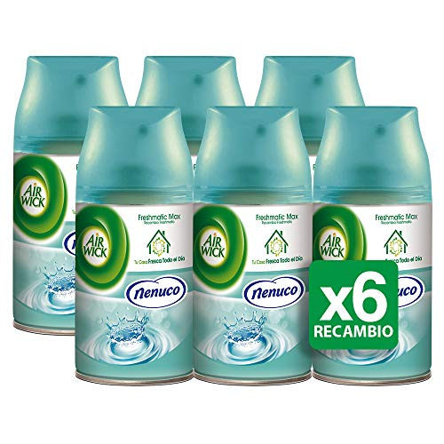 Air Wick Freshmatic Home freshener, Nenuco fragrance refill, 6 x 250 ml pack - Total: 1500 ml
