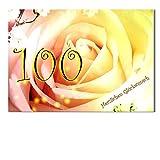 DigitalOase Glückwunschkarte 100. Geburtstag Jubiläumskarte 100. Jubiläum Geburtstagskarte Grußkarte Format DIN A4 A3 Klappkarte PanoramaUmschlag