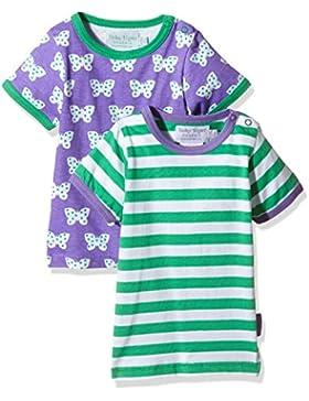 Toby Tiger Mädchen Butterfly T-Shirt Pack 2