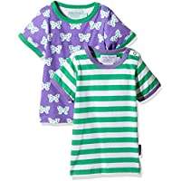 Toby Tiger Butterfly Pack, T-Shirt Bambina, (pacco da 2