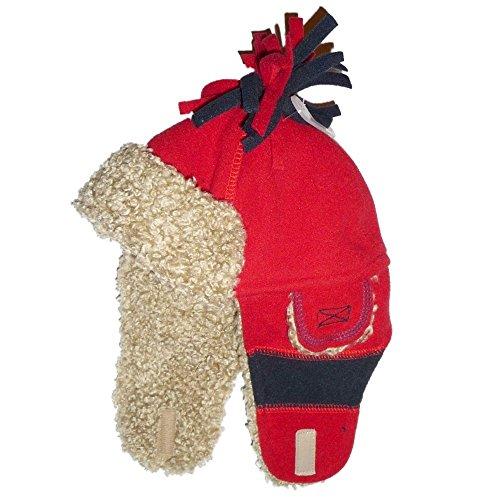 pac-enfants-bebe-garcon-bonnet-dhiver-fourrees-bleu-fonce-rouge-a-12-mois