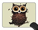 YISUMEI 25x30 cm Gaming Mauspad Office Computer Mouse Pad Mond Tiere Eule Kaffee