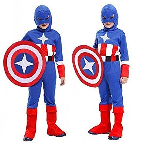 Karneval Halloween Kostüm Captain America Kinder (Captain America Halloween)