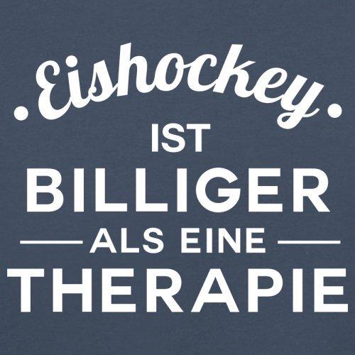 Eishockey ist billiger als eine Therapie - Damen T-Shirt - 14 Farben Navy
