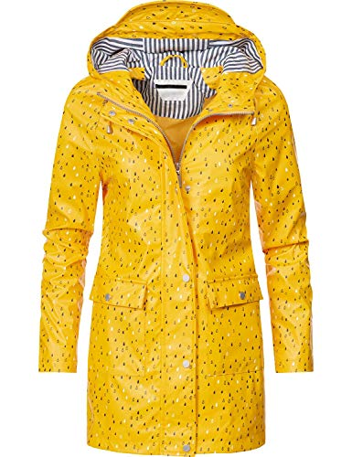 PEAK Regen Mantel Hochschließender Kragen, gr. Kapuze mit Kordeln